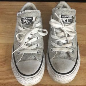 Kids gray converse sneakers